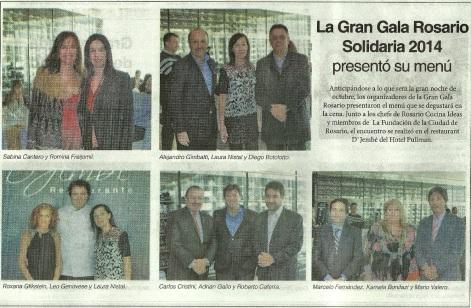 La Gran Gala Rosario Solidaria 2014 - 15-08